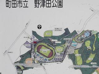 町田市立野津田公園内の案内マップ