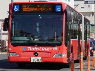 町田BC~山崎団地センター間で運行中の連節バス