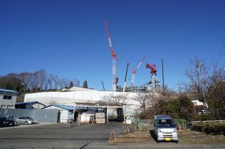 「リニア中央新幹線 小野路非常口」の建設現場