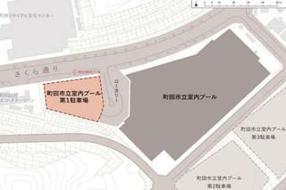 町田市立室内プールに計画中の「温浴施設」計画平面図