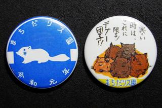 町田リス園のマグネット(令和元年限定品)