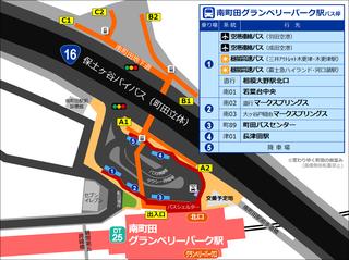 南町田グランベリーパーク駅のバス乗り場平面図