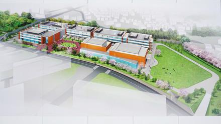 「桜美林大学 東京ひなたやまキャンパス」の完成イメージ
