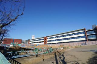 第2期工事予定地から見た「桜美林大学 東京ひなたやまキャンパス」