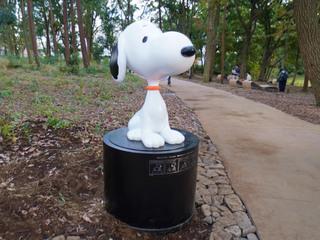鶴間公園・つるまの森のスヌーピー像