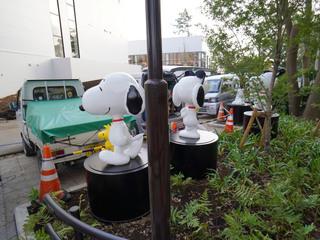 鶴間公園・エノキエントランスのスヌーピー像
